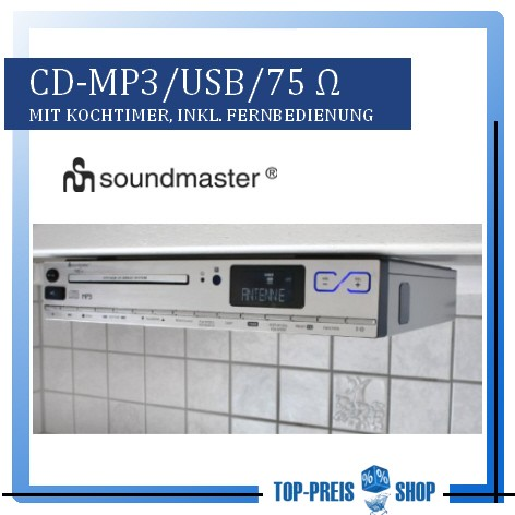 unterbauradio mit cd mp3 usb aux in soundmaster. Black Bedroom Furniture Sets. Home Design Ideas
