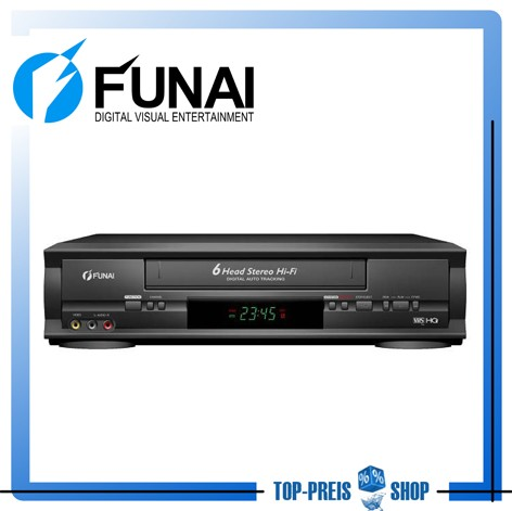 Videorekorder-VHS-6-Kopf-Videorecorder-Funai-D50Y-100M