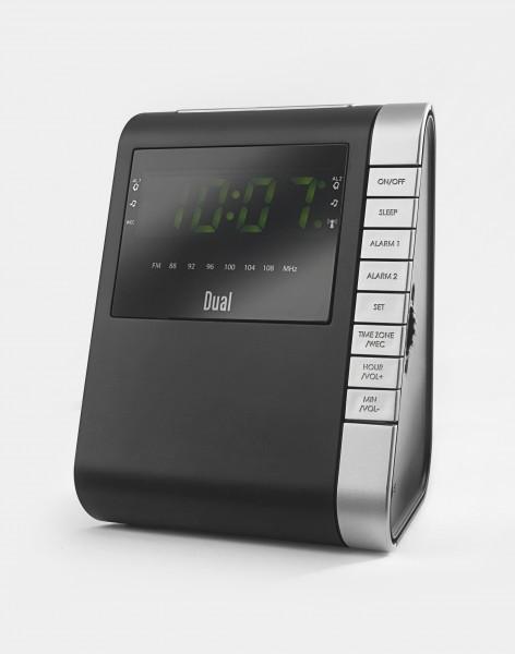 radiowecker mit funkuhr 2 weckzeiten dual uhrenradio. Black Bedroom Furniture Sets. Home Design Ideas