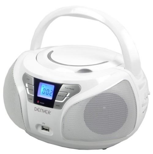 boombox mit cd player usb mp3 radio und aux denver tcu. Black Bedroom Furniture Sets. Home Design Ideas