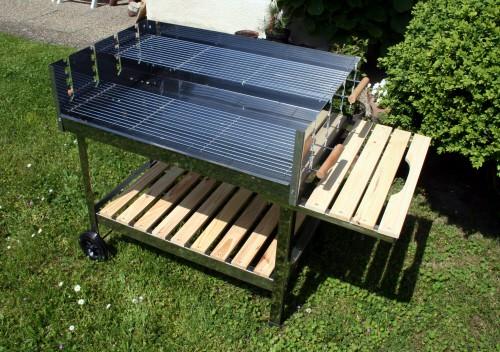 grillwagen edelstahl holzkohle xxxl bbq gastro grill vereinsgrill fahrbar holzkohlegrills. Black Bedroom Furniture Sets. Home Design Ideas