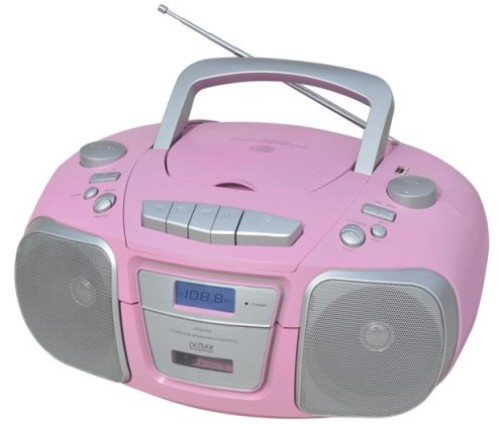 cd player mit cd mp3 radio kassette usb und aux denver. Black Bedroom Furniture Sets. Home Design Ideas
