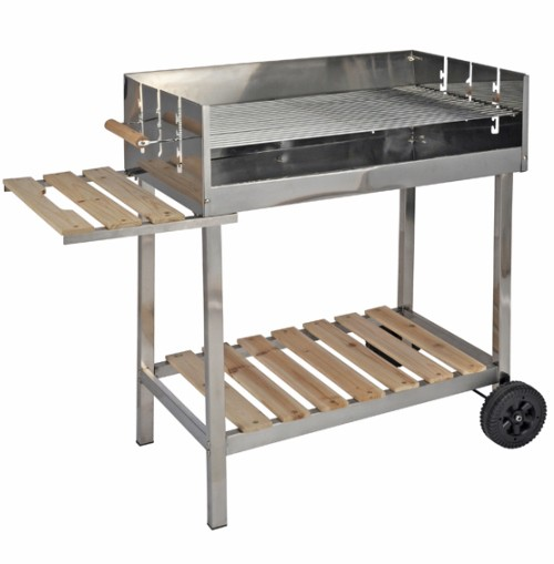 grill xxl edelstahl grillwagen holzkohlegrill fahrbar mit holzablage holzkohlegrills. Black Bedroom Furniture Sets. Home Design Ideas